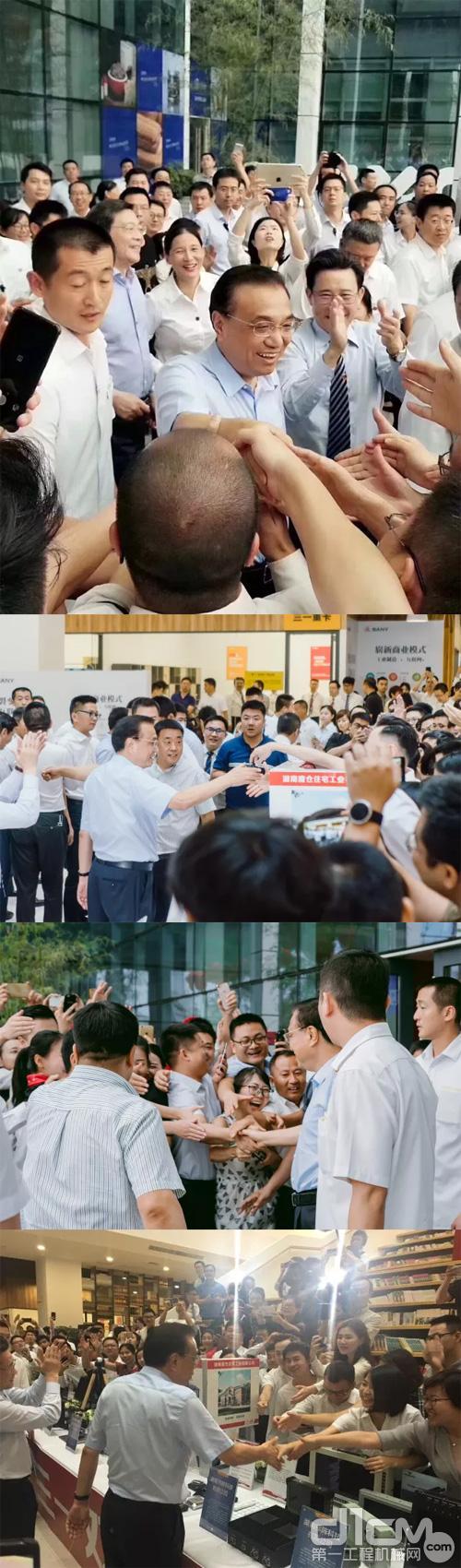 李克强总理与三一员工握手