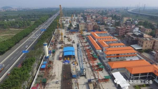 图为广州18号线横番区间2号中间风井工地