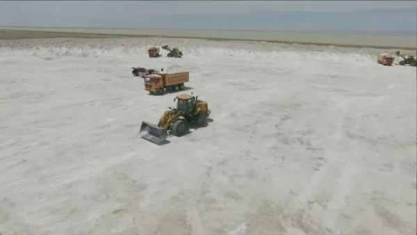 奋战在盐湖旁的柳工装载机