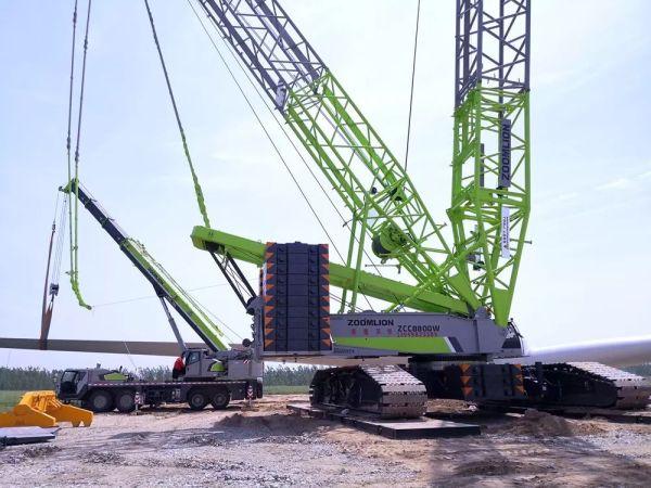 中联重科履带吊助力临西运河风电项目建设