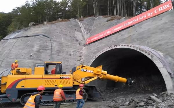 徐工掘进机参与黑山南北高速公路建设