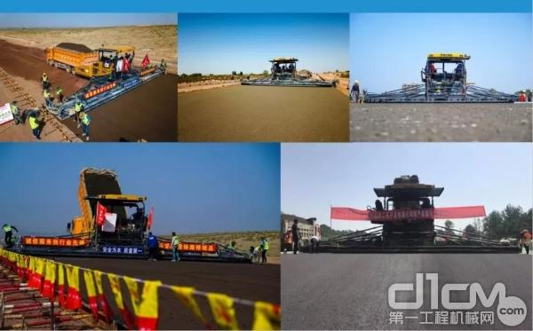 中国首款16.5米智能摊铺机型RP1655征战各大高速公路
