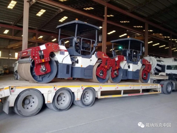 又有8台戴纳派克新款压路机加入了贾法尔工程公司的施工车队