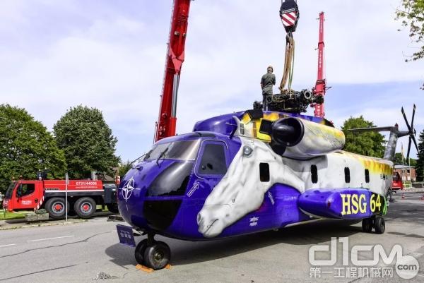 退役的CH-53直升机是军事历史系列展品