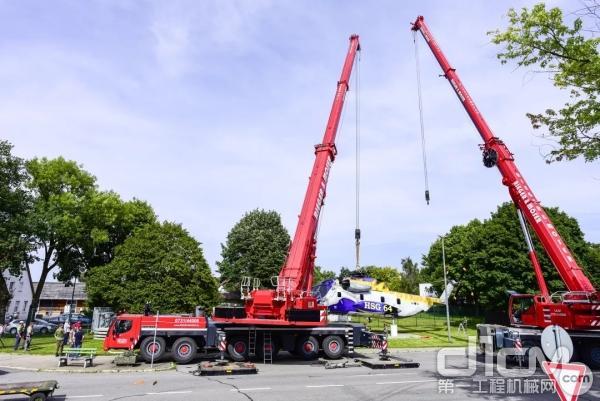 为了将直升机安装在三个预先准备好的支点上,Rieger & Moser公司使用了利勃海尔