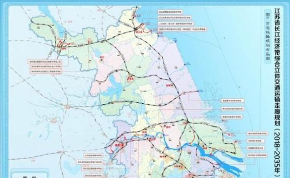 江苏规划建设沿江城市群城际铁路网 南通有两条线