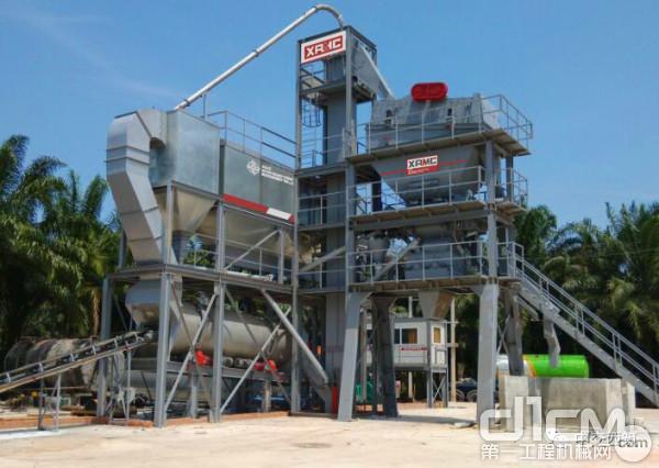 西筑J1500型搅拌设备在尼日利亚