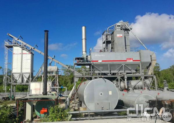 西筑J1500型搅拌设备在巴布亚新几内亚