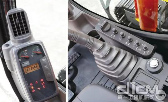 大型监控器、开关盘被集中设置于操作人员的右侧,使用起来更加便捷高效