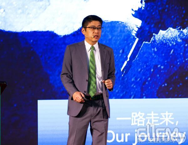 工机控股株式会社经营战略本部市场推广办公室室长玉川岳郎先生发表致辞