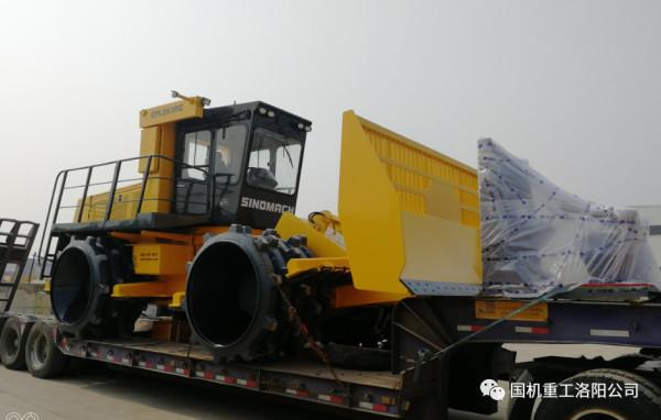 由国机重工洛阳公司研发制造的国内首台智能遥控垃圾压实机GYL263RC实现销售,进驻豫北地区