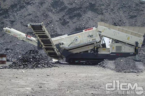 △应用于煤矸石筛分