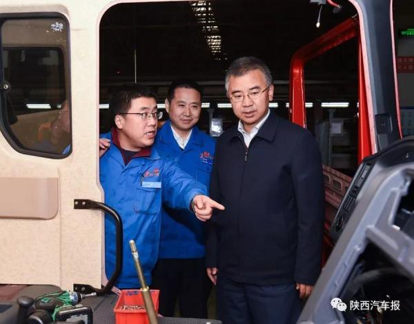 11月7日下午,甘肃省天水市市常委、常务副市长赵四辈一行到陕汽调研