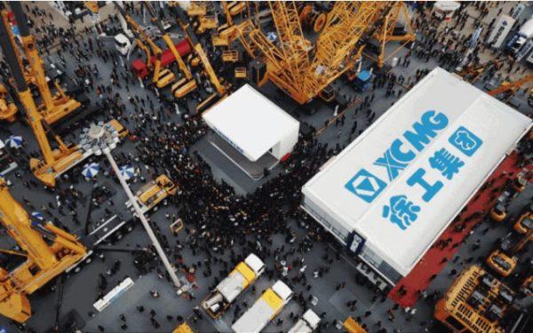 徐工集团在2018上海<a href=http://news.d1cm.com/special/baumachina/ target=_blank>宝马展</a>现场展示