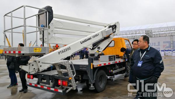 中国首创最大米数蓝牌高空作业车PTA220C