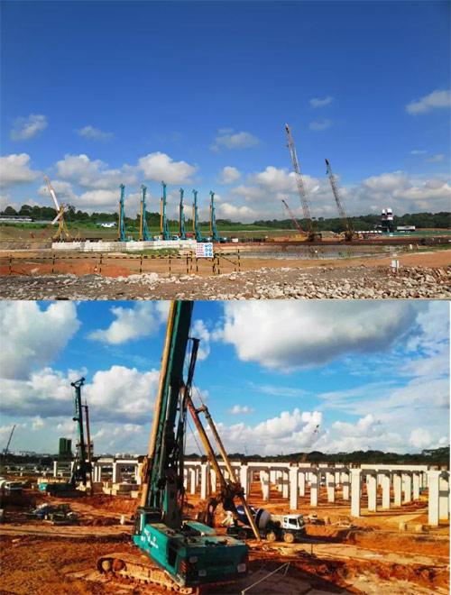 新加坡 T201项目切岩桩集群施工 2014年