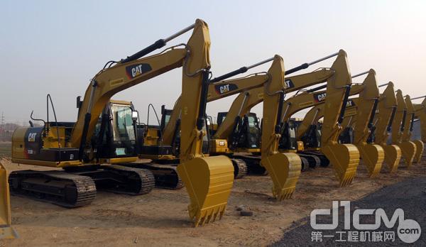 华北利星行机械雄安机械租赁服务中心场地展示设备