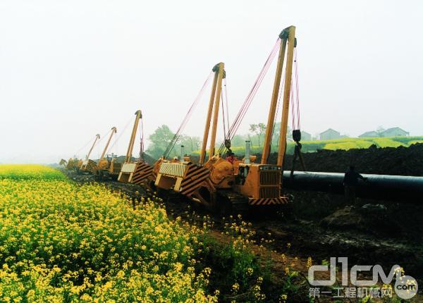 山推吊管机参与中国西气东输项目