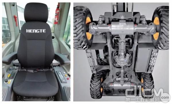 符合人体工程学的新型悬浮座椅以及采用双平衡液压悬挂系统
