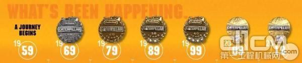 道格的六枚徽章意味着他已经在卡特彼勒工作了60年