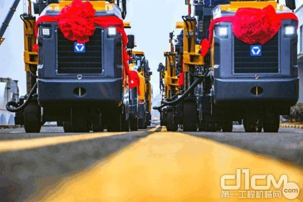 徐工14台铣刨机再次批量出口中亚
