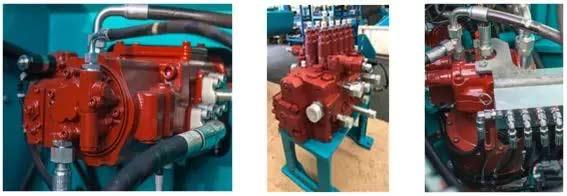 采用大排量主泵、大通径主阀、大排量马达