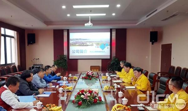 国机重工长起公司邀请某区域三家企业负责人到泸洽谈合作事宜