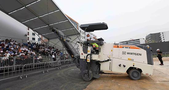 设备演示:维特根集团小型设备道路快速养护