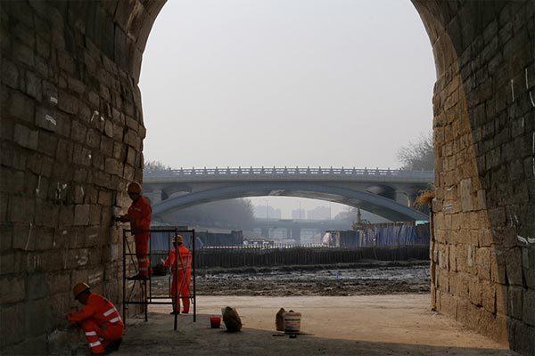 北京573岁老桥将退休