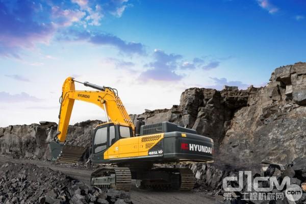 现代R485LVS履带式液压挖掘机