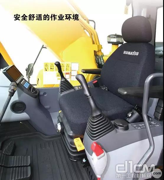 PC300-8M0还装备了小松为液压挖掘机专门设计的双重防震驾驶室与悬浮式座椅设计