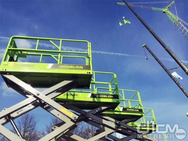中聯重科高空作業機械產品為電驅剪叉式高空作業平台