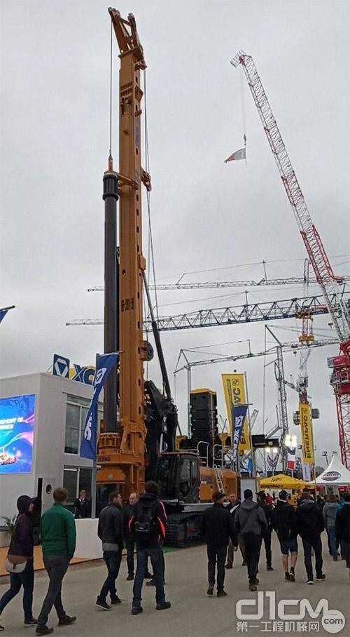 XR240E旋挖钻机亮相德国宝马展
