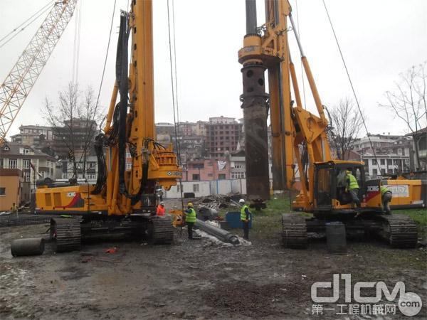 徐工XR220D旋挖钻机在土耳其施工