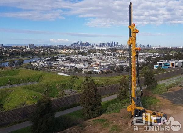 徐工XR130E旋挖钻机在澳大利亚施工