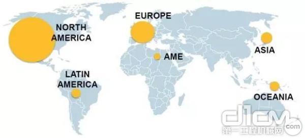 全球高空作业平台保有量分布