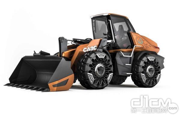 凯斯甲烷动力概念轮式装载机TETRA