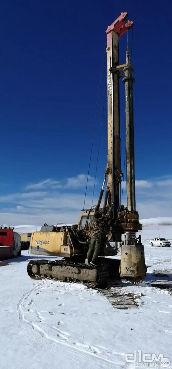 玉柴桩工YCR50小型旋挖钻机挑战施工极限