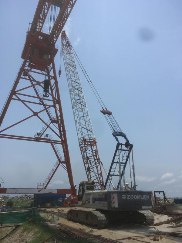 中联重科起重机助建孟加拉帕德玛大桥