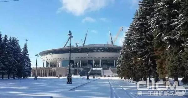徐工设备助力俄罗斯世界杯各个场馆的建设