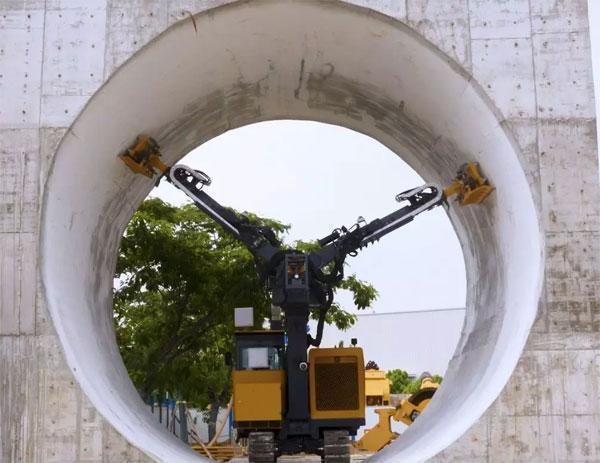 徐工TCR7500隧道清理机器人在施工作业