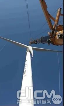徐工起重机助力陕西黄龙庙风电设备安装