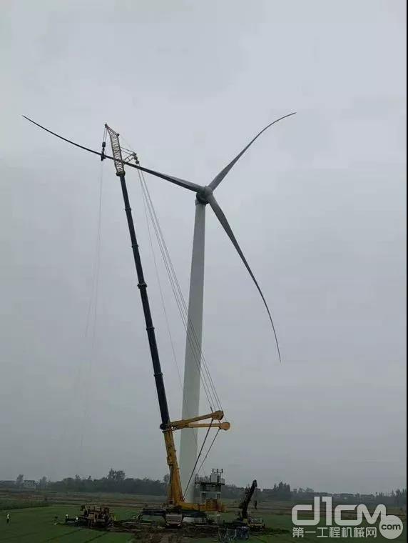 徐工起重机助力风电设备安装