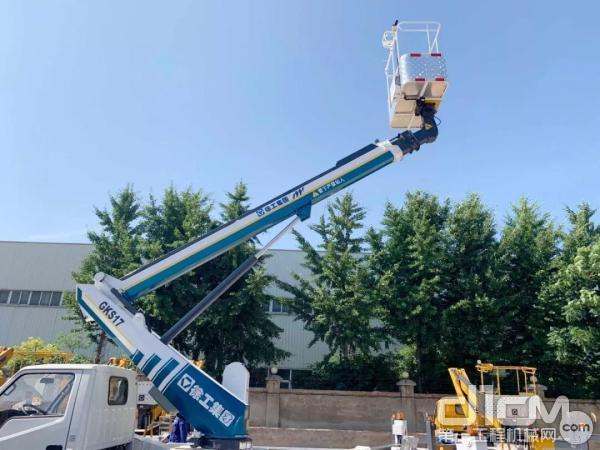 客户体验徐工17.3米蓝牌高空作业车