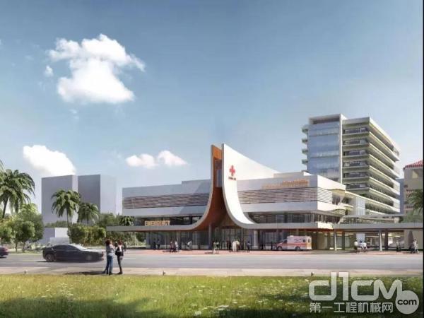 徐工塔机助力柬埔寨援建医院项目