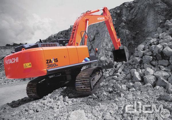 ZX360H-5A挖掘机在高温环境中工作