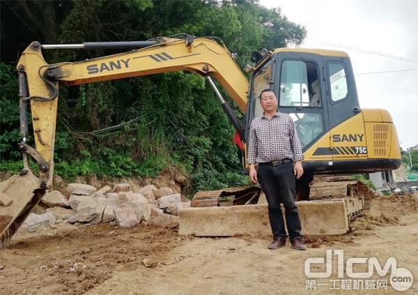 工作近十年的三一挖掘机
