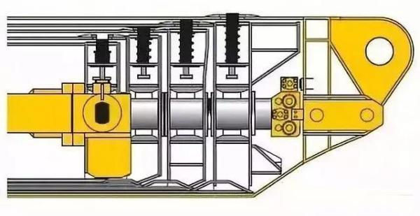 单缸伸缩机构