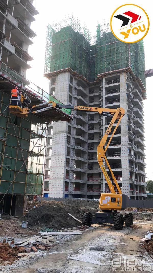 楼盘建造,Haulotte增添安全保障