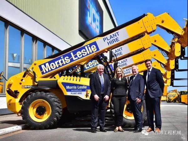 JCB赢得单笔价值3600万英镑的伸缩臂叉装车订单
